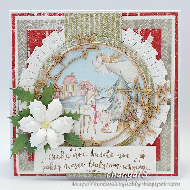 357. Kartka świąteczna z aniołkiem