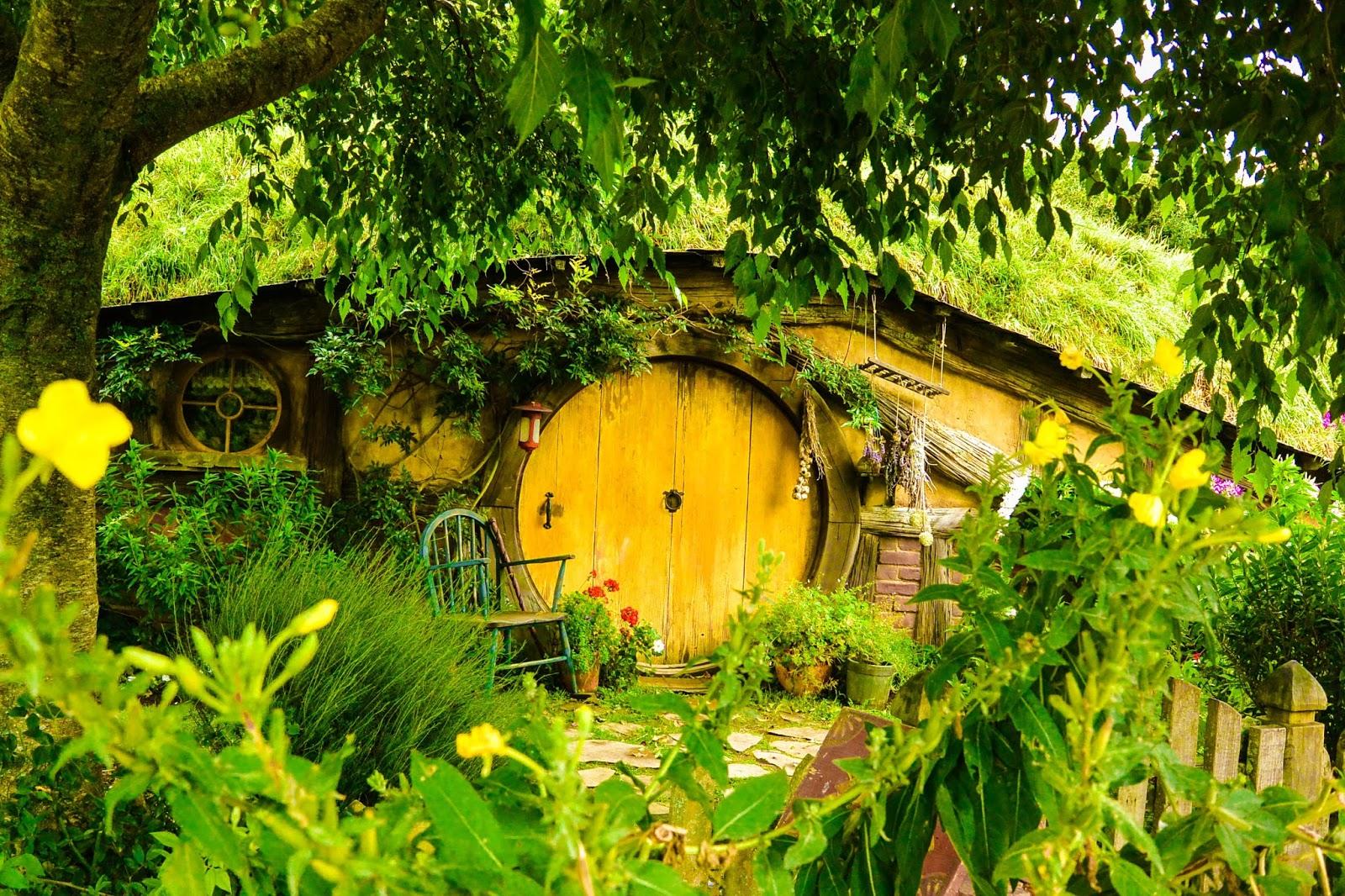 Things to do in Rotorua New Zealand : The hobbit holes at Hobbiton