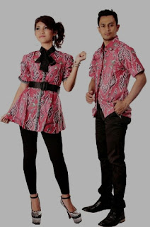 Model baju batik couple trendy