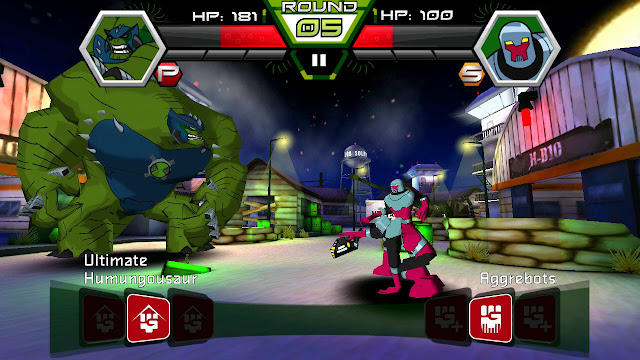 Ben 10 battle - ultimate humungousaur vs aggrebots