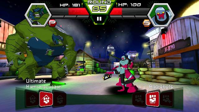 Ben 10 battle - ultimate humungousaur vs aggrebots