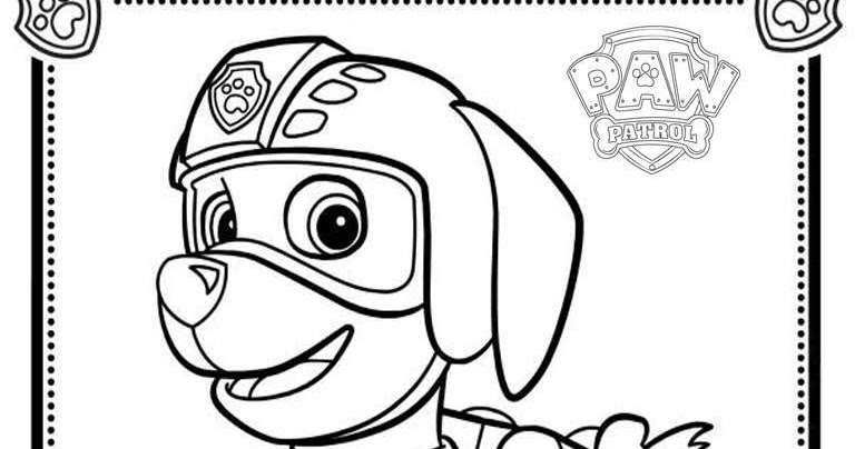 Zuma Paw Patrol - Free Colouring Pages