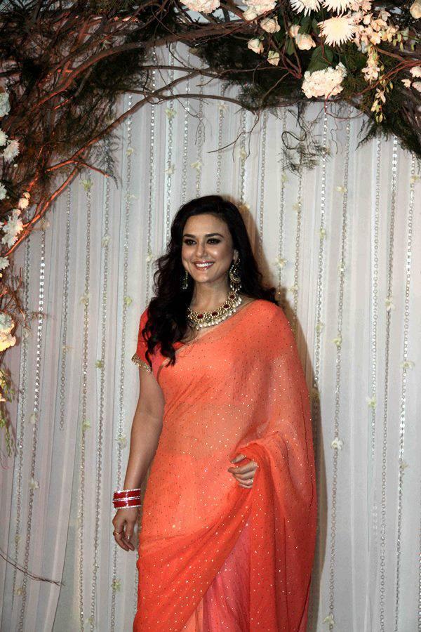 Preity Zinta at Bipasha wedding reception