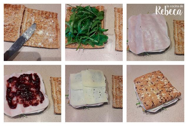 Receta de sándwich de pavo y grosellas 02