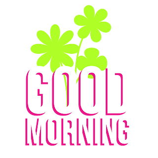 Good morning transparent PNG stickers