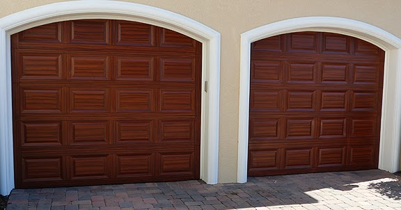 Arched garage doors everything i create paint garage for Garage doors that look like wood