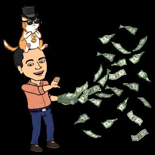 Money with my cat