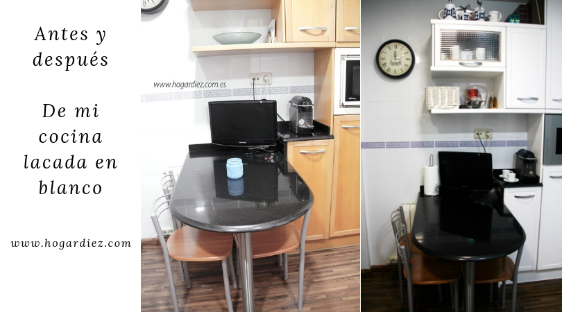 El antes y después de mi cocina lacada en blanco