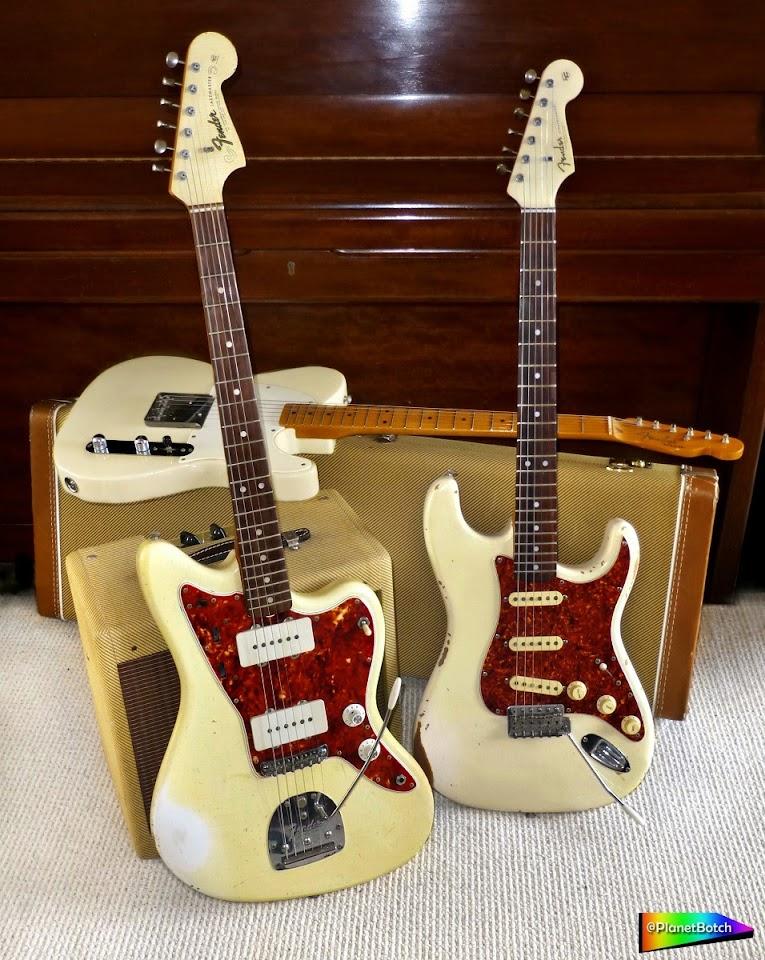 Olympic White Fender guitars
