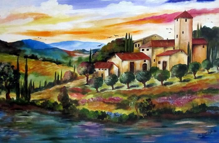 Итальянские деревни и пейзажи. Roberto Gagliardi 7