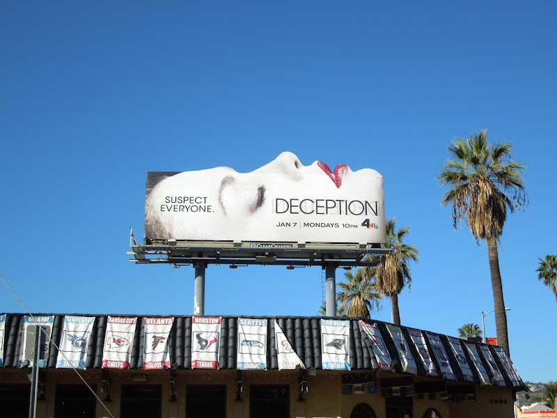 Deception NBC billboard Sunset Boulevard