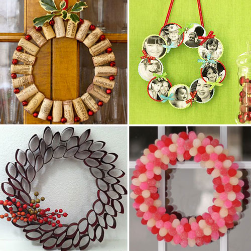 12 Non-Traditional Holiday Wreath Ideas