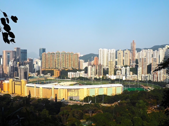View of Happy Valley racecourse from Bowen Road, Hong Kong