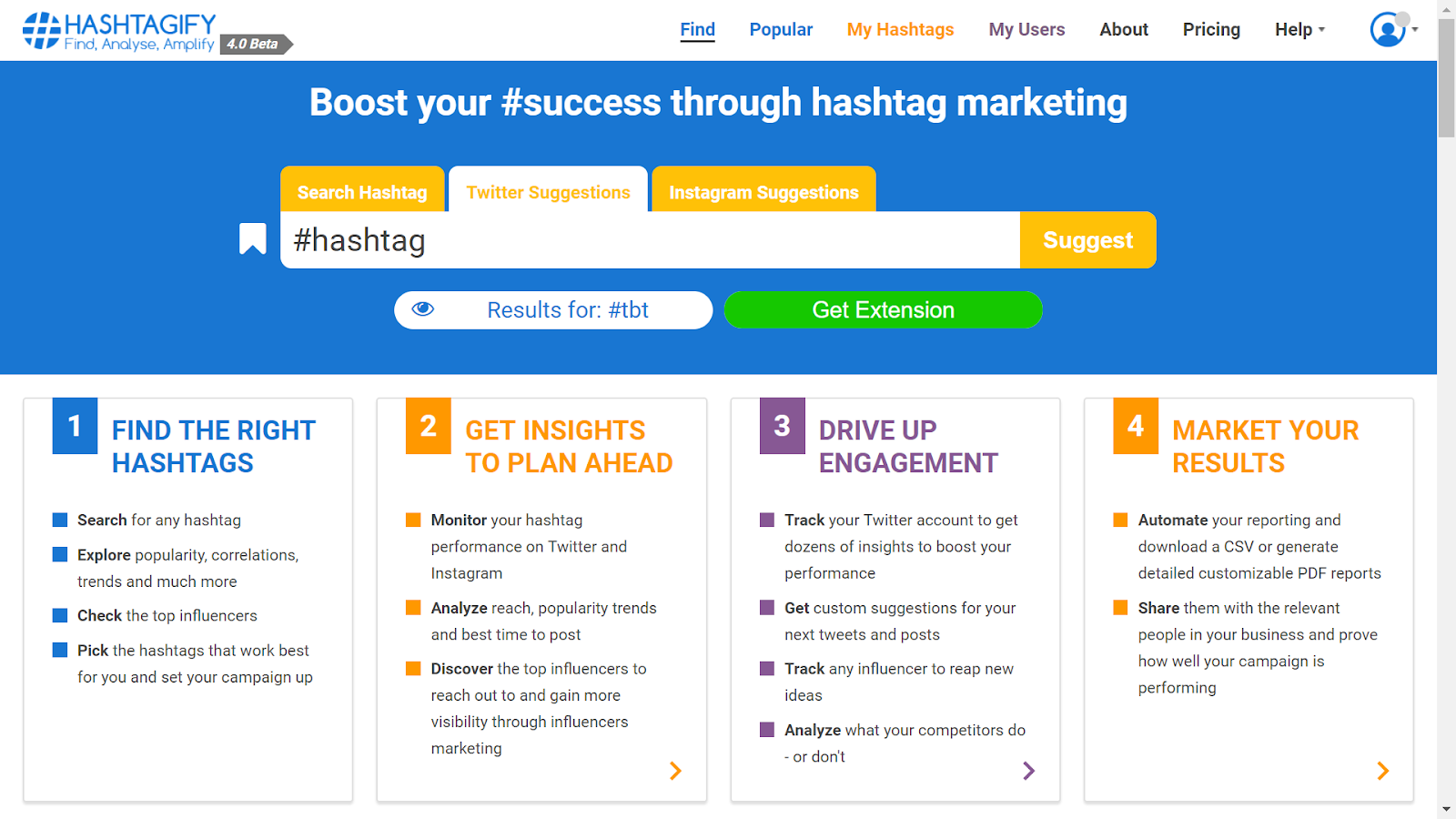 c45e0f56ddb You can use hashtagify to find top hashtag on Twitter and Instagram.
