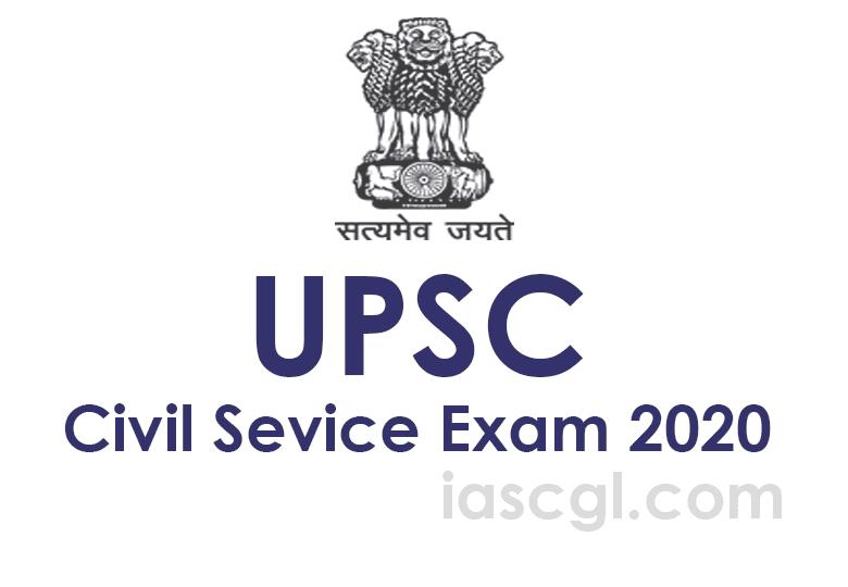 UPSC Civil Service Exam 2020 Notifiation Exam dates