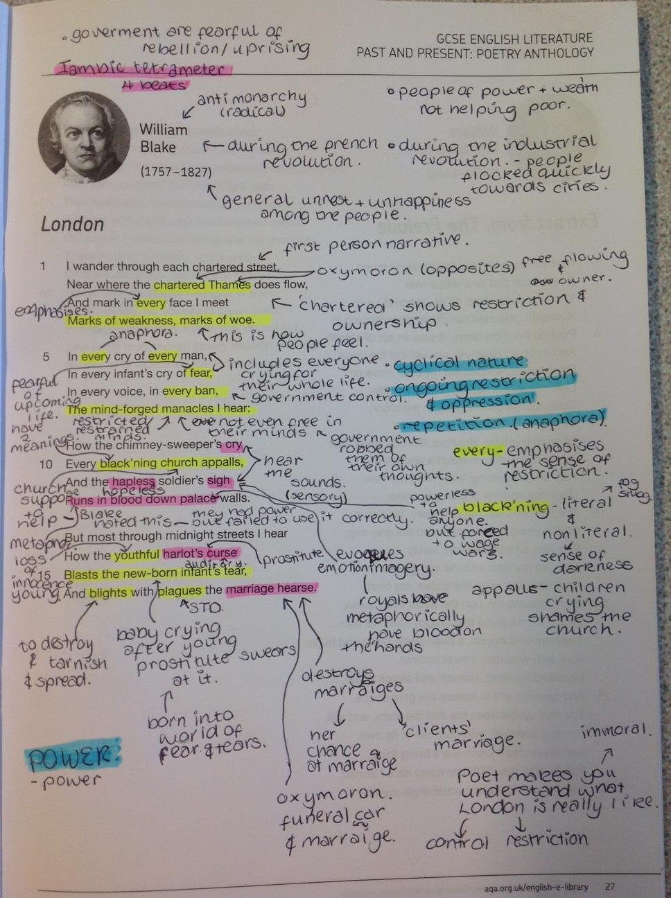 mr webb s online classroom annotation on london by william blake annotation on london by william blake