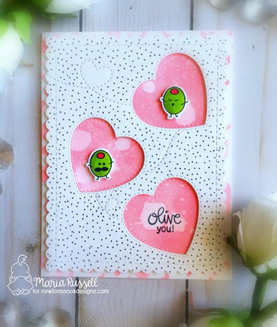 Olive You Card by Maria Russell | Love Bites Stamp Set by Newton's Nook Designs #newtonsnook #handmade