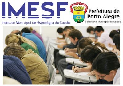 IMESF anuncia novo concurso público em Porto Alegre