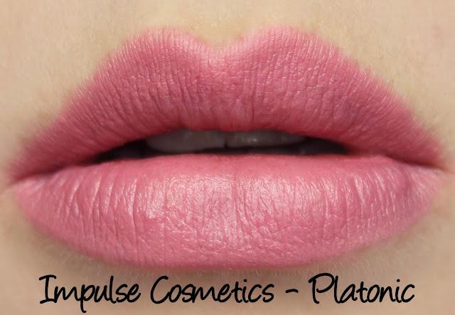 Impulse Cosmetics - Platonic lipstick swatches & review