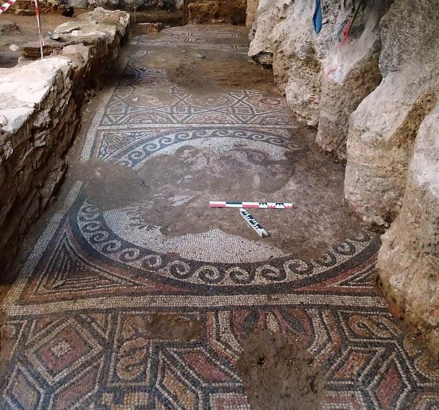 Mosaics found during metro excavation in Thessaloniki belong to large Roman villa