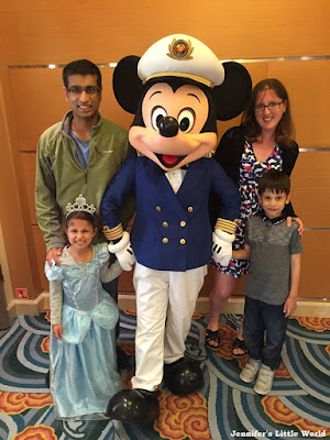 Meeting Mickey Mouse on a Disney cruise ship