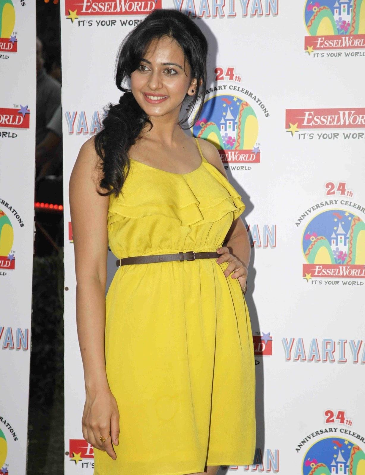 Rakul Preet Singh Photo Shoot In Yellow Dress