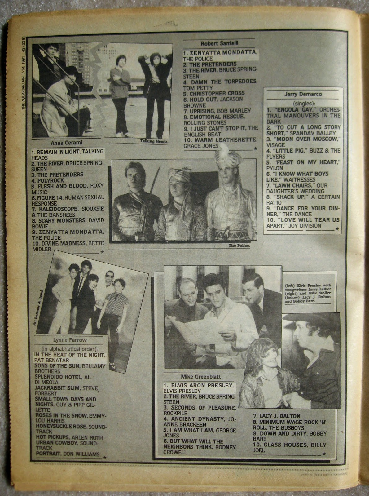 1980 top albums of the year... part 3 Aquarian Night Owl January 1981