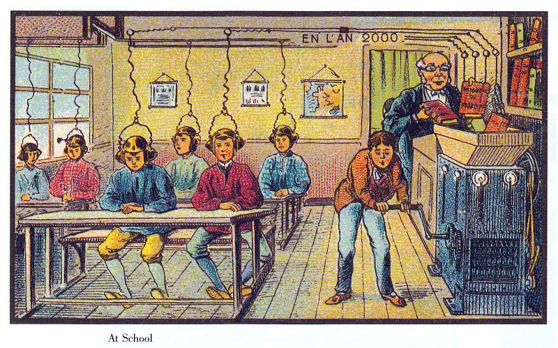 04-Future-School-Jean-Marc-Cote-Villemard-En-L-An-2000-wikimedia-Futurism-with-Illustrated-Postcards-from-the-1900s-www-designstack-co