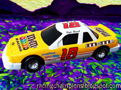 Kyle Busch #18 M&M's Darlington Throwback Toyota 2017 2018 Racing Champions diecast blog Greg Sacks Slim Fast