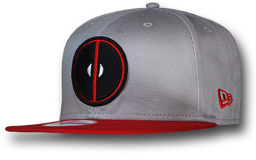 New Era Deadpool Symbol Grey 9Fifty Snapback Cap  f356a35c90c