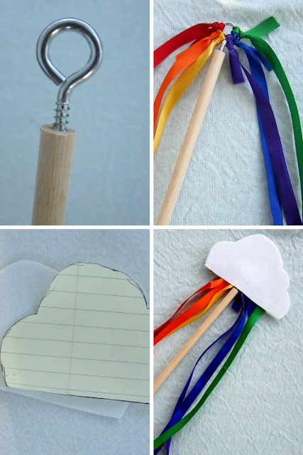 DIY Steps for Rainbow Wand