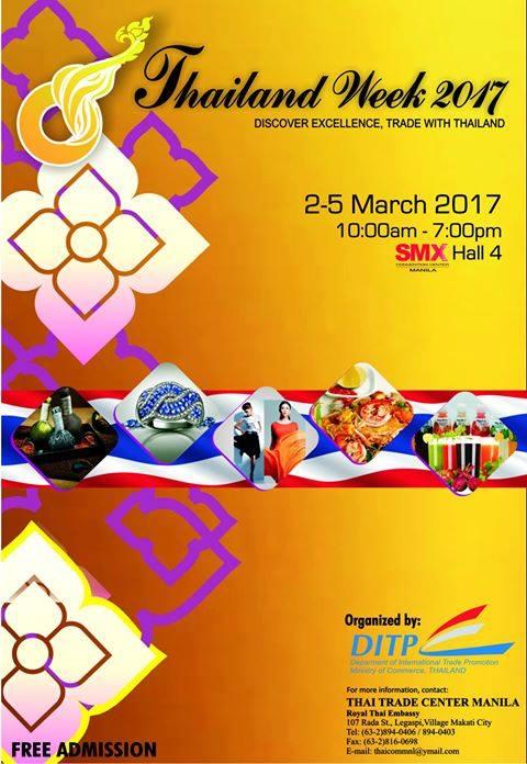 Thailand Week Thai Fashion Food And Fun: Manila Shopper: Thailand Week At SMX MOA: Mar 2017
