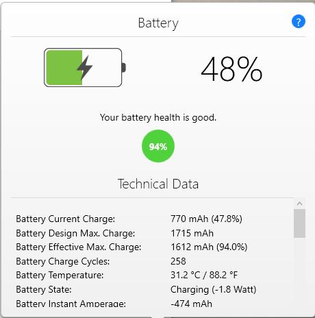 Baterai Iphone dan Data teknis - Pertanggal Juni 2018