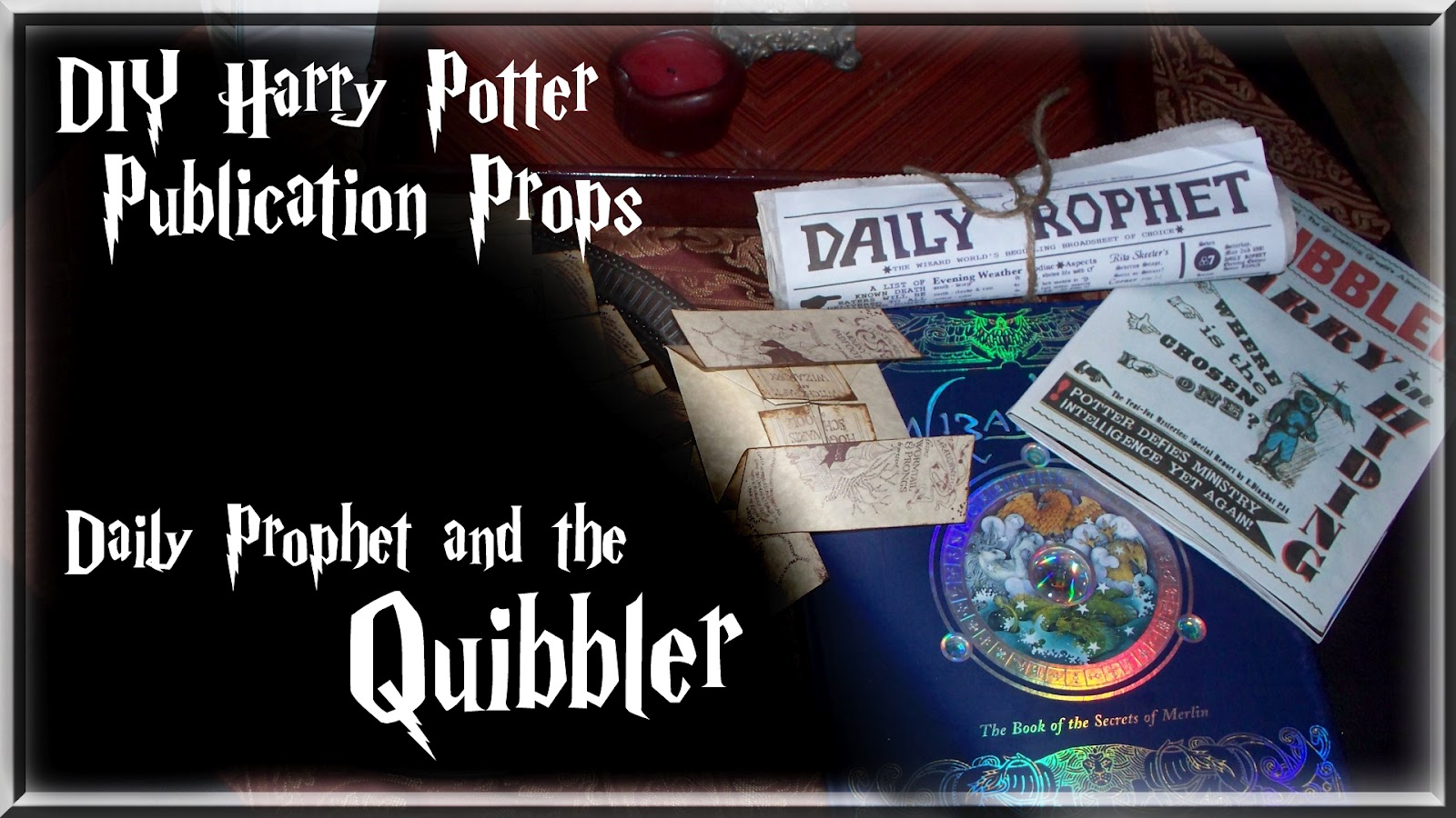 Harry Potter Publication Props Quibbler And The Daily Prophet Post