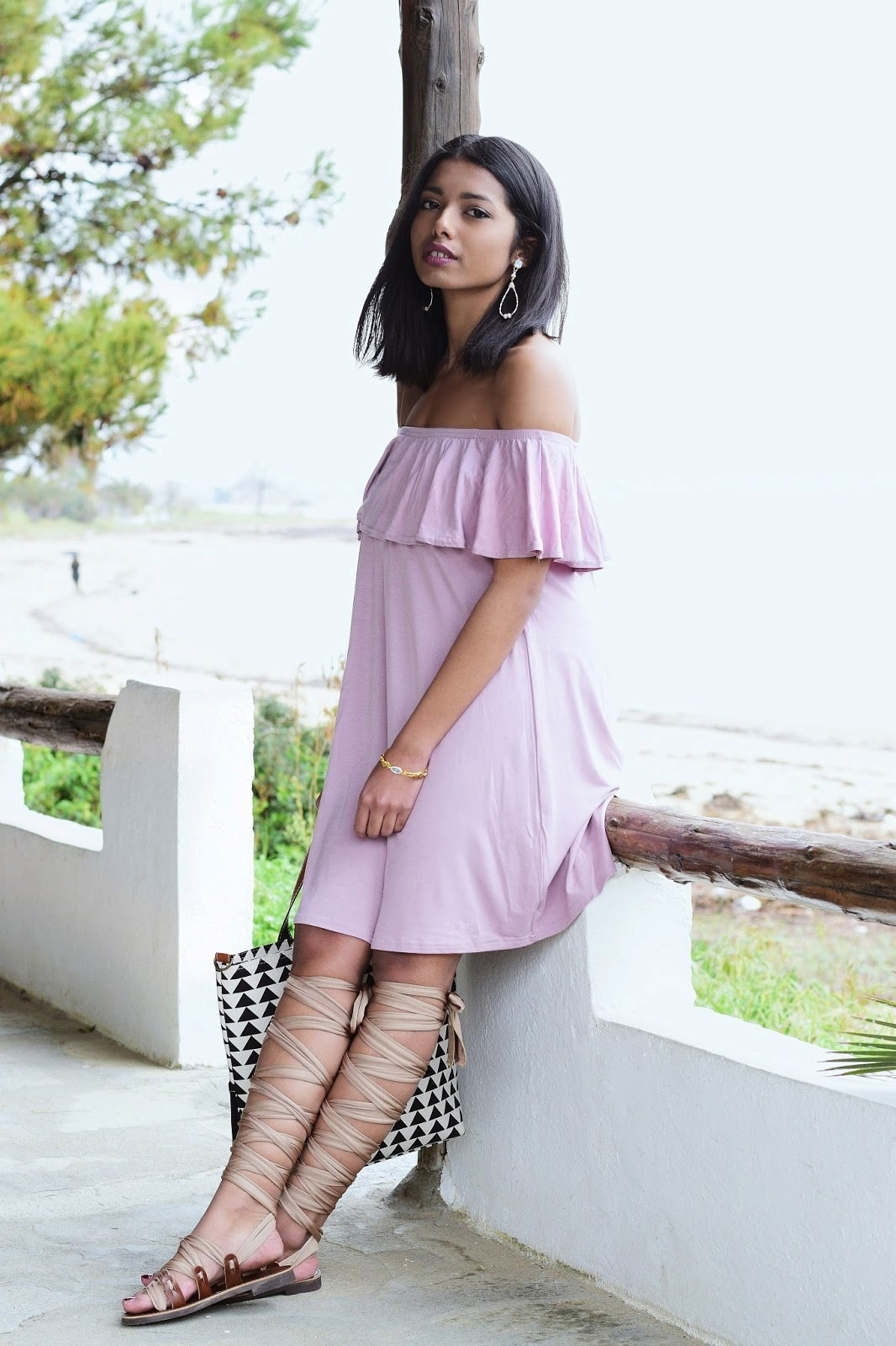 spring off shoulder dress
