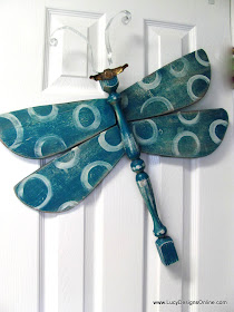 Lucy Designs: Dragonflies Recycled table leg dragonflies
