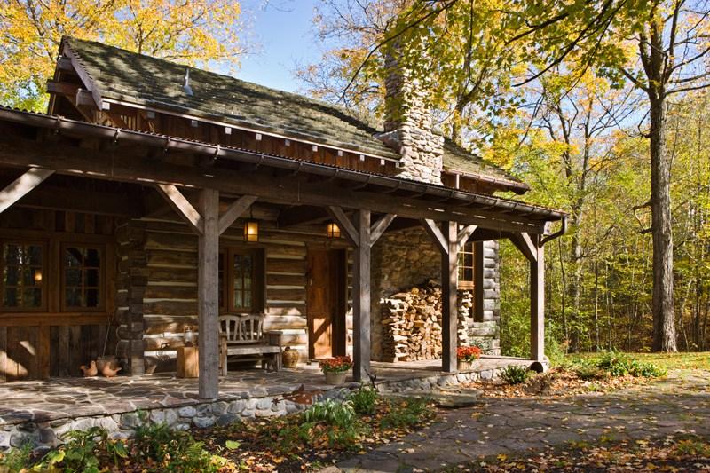 The Little Living Blog Rustic Ontario Log Cabin