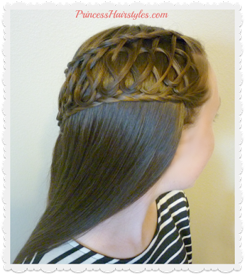 Hair tutorial, squiggle knot braid half up hairstyle