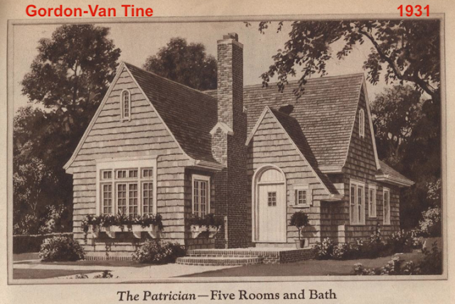 B & W image of Gordon-Van Tine Patrician model