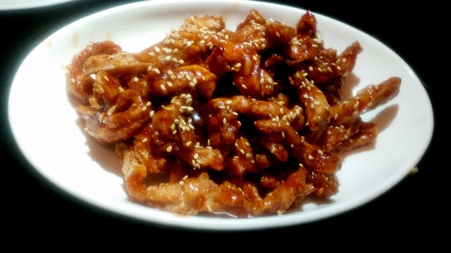 Shredded Chicken in Honey Chilli Sauce