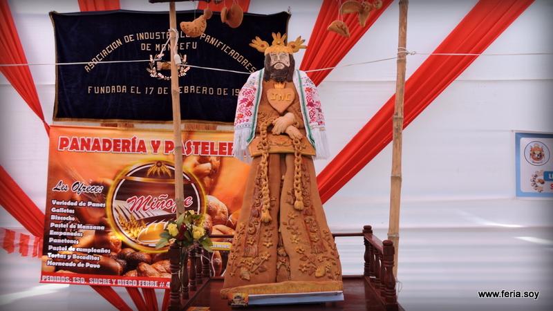 Panificadores exhibieron a patrón de Monsefú hecho en pan biscocho