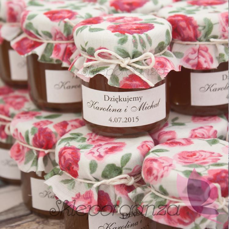 miód w słoiczku dla gości weselnych