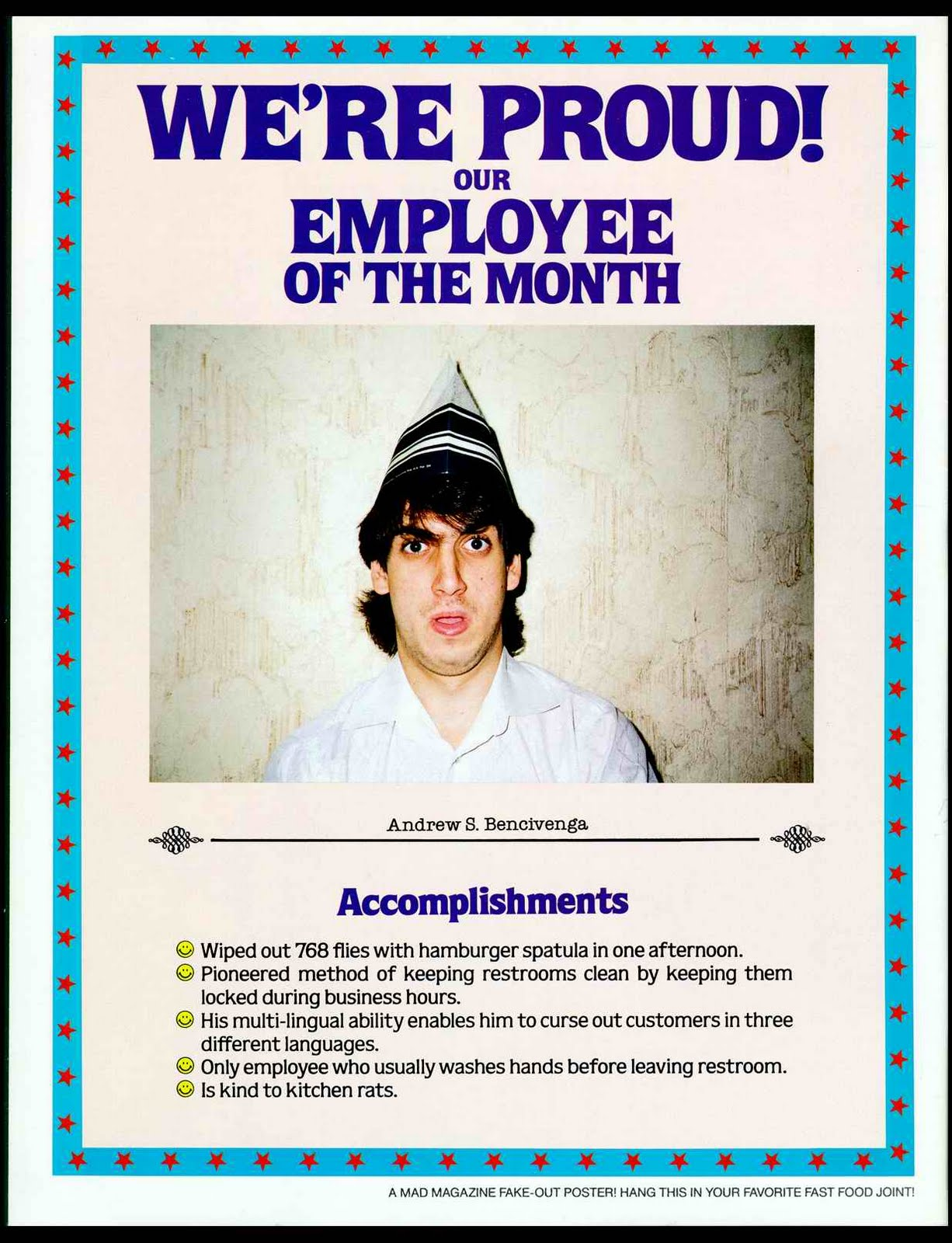 Wyrst Christian Take Away Employee Of The Month