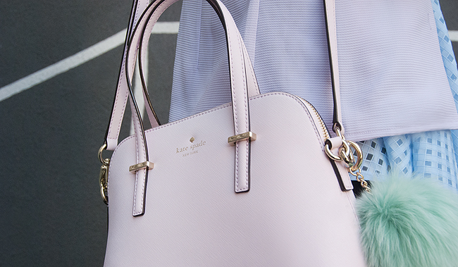 Kate Spade, pastel handbag, shoulder bag