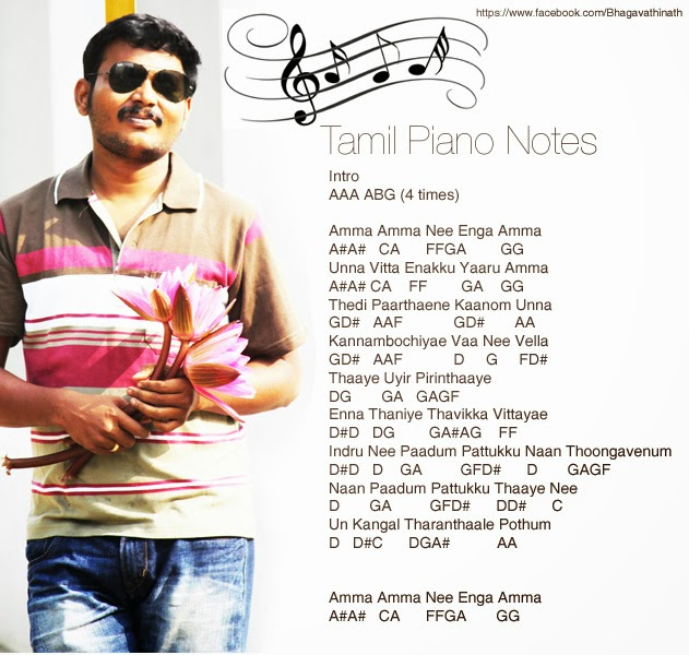 Tamil Piano Notes: Amma Amma - The Loss of Raghuvaran (VIP)