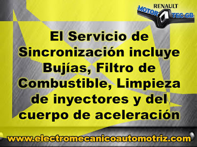 Sincronizacion Renault Motortec GB Taller Electromecanico
