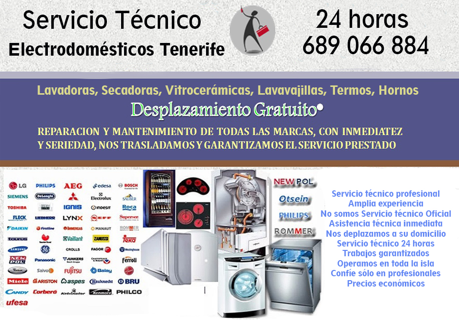 Empresas en tenerife servicio t cnico tegran tenerife for Tecnico de lavadoras tenerife