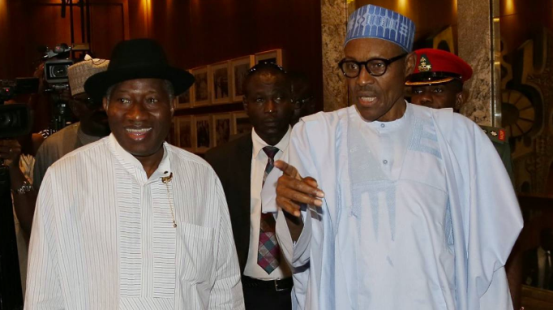 Photos: Pres. Buhari recieves former President Goodluck Jonathan in Aso Rock
