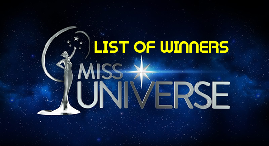 List of Winners Miss Universe 2017