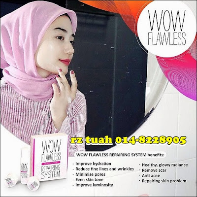 wow flawless repairing system skincare